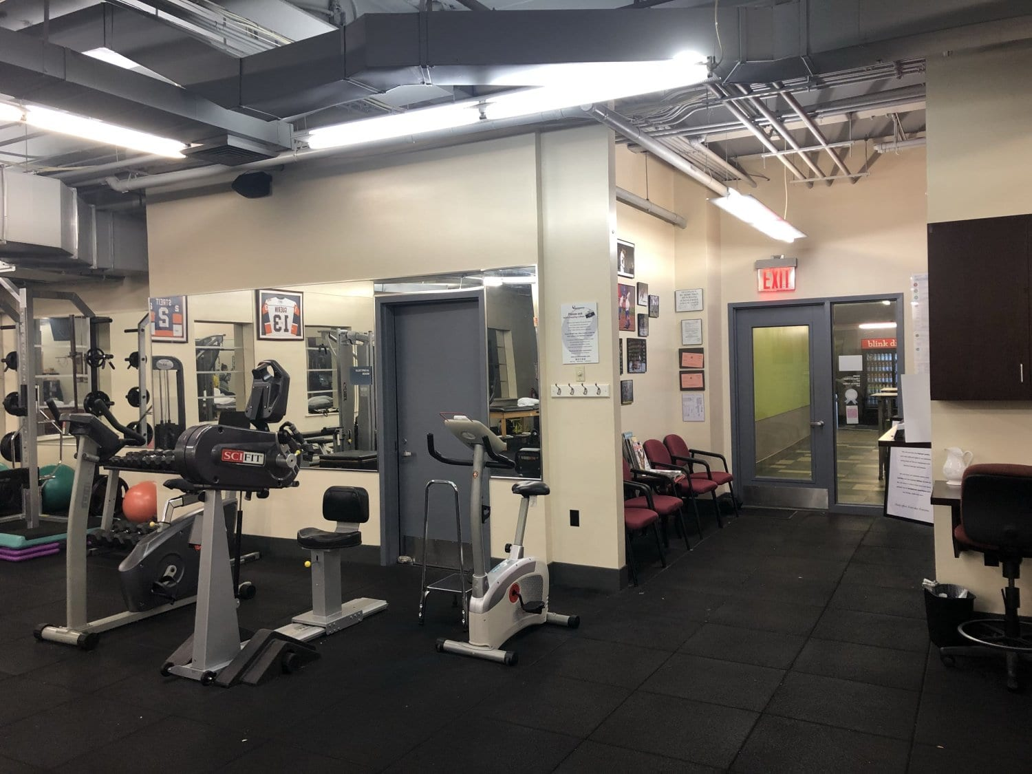 Here is an image of some of the machines in our training room in our physical therapy clinic in Melville, Long Island in Suffolk County, New York.