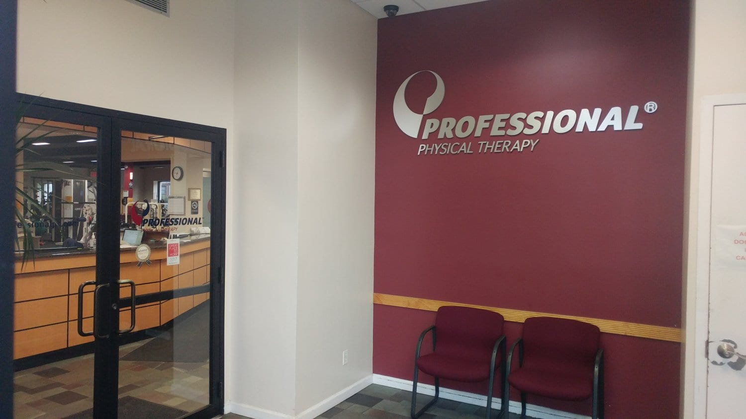 An image of the patient waiting area at our physical therapy clinic in Bayside Whitestone, New York.
