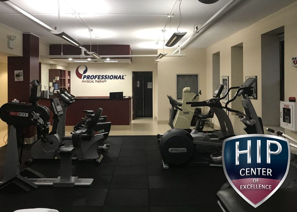 Main room and reception of our physical therapy clinic in Manhattan NYC on east 8th street.