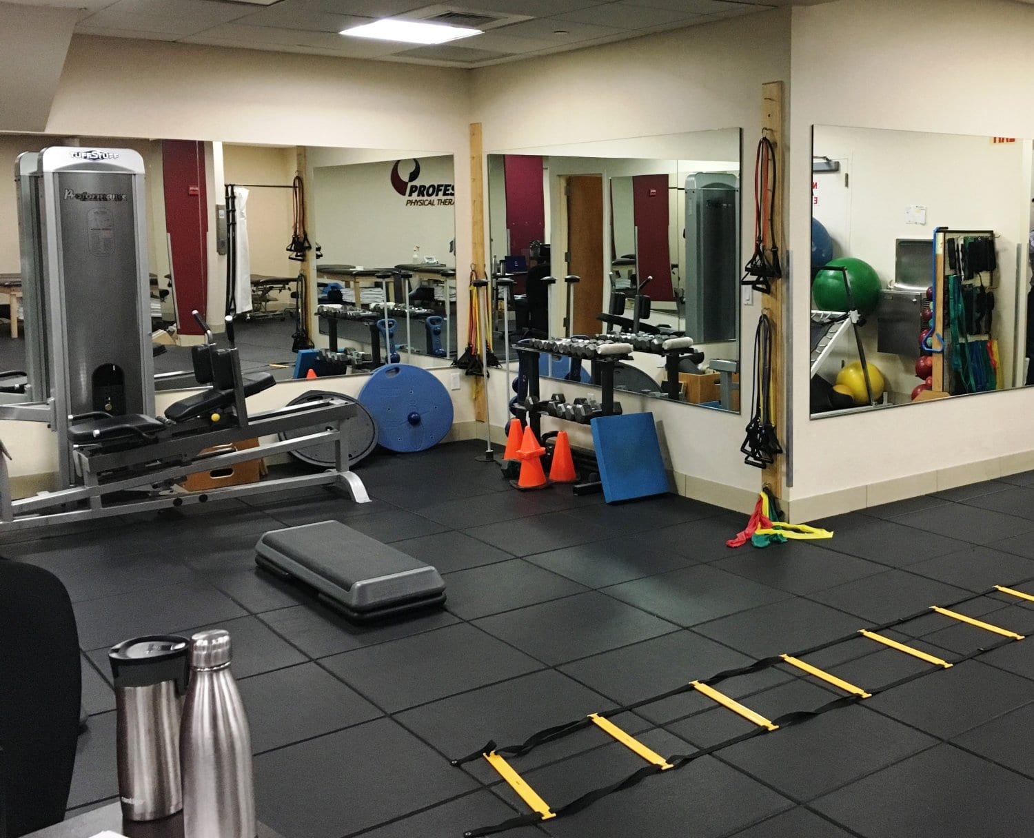 Here is an image of equipment like stretch bands used at our physical therapy clinic in Manhattan, New York City at Midtown East on Fifth Avenue.