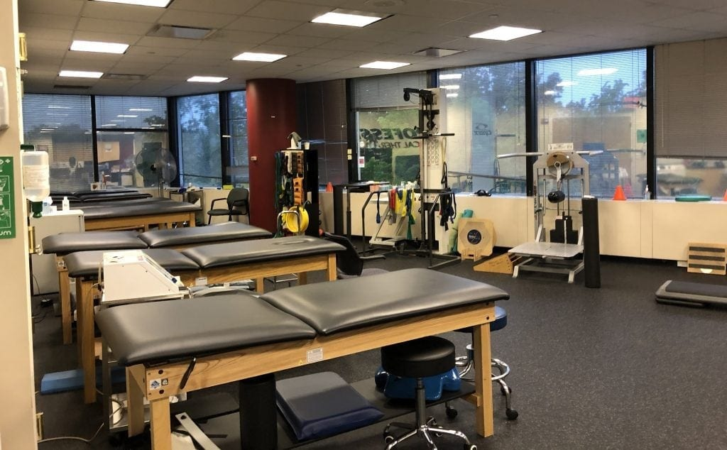 Here is a photo of our training room at our physical therapy clinic in Kew Gardens, New York.