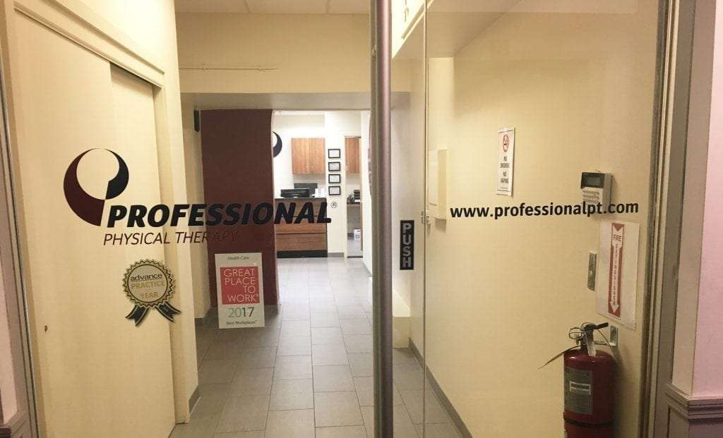 This is an image of the doors to our physical therapy clinic in Soho, New York in lower Manhattan.