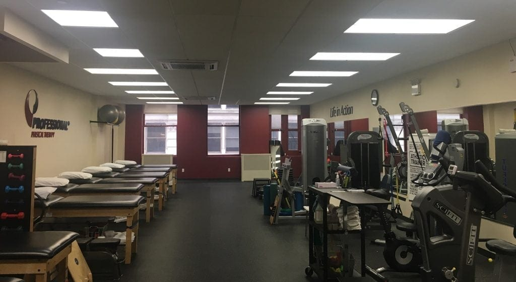 Here is an image of the interior of our physical therapy clinic in lower Manhattan, New York City in Soho.