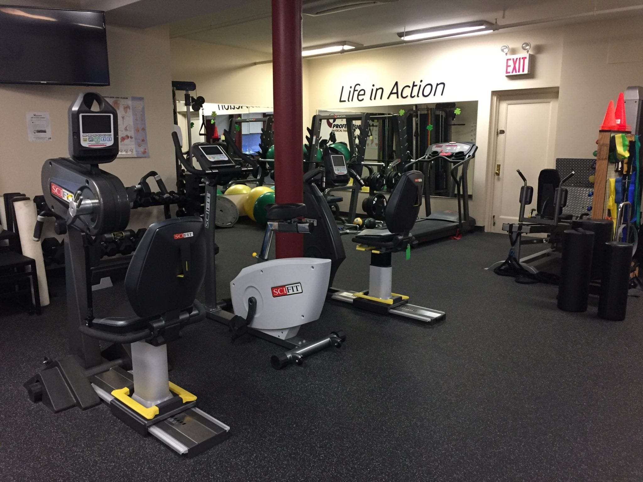 An image of exercise equipment at our physical therapy clinic in Manhattan, New York City at Upper East Side on 87th st.