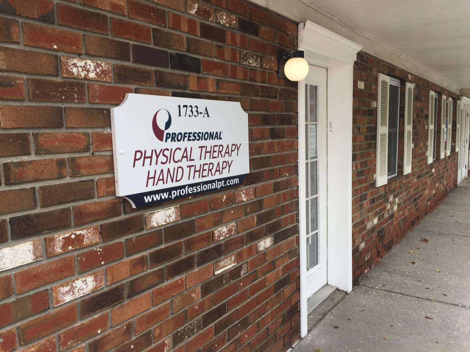 This is a photo of the Professional Physical Therapy Hand Therapy clinic sign at our facility in Medford, New York in Long Island in Suffolk County.