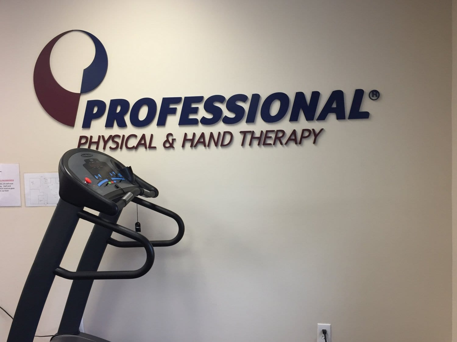 Here is a photo of the Professional Physical Therapy sign on the wall at our clinic in Medford, New York in Long Island in Suffolk County.