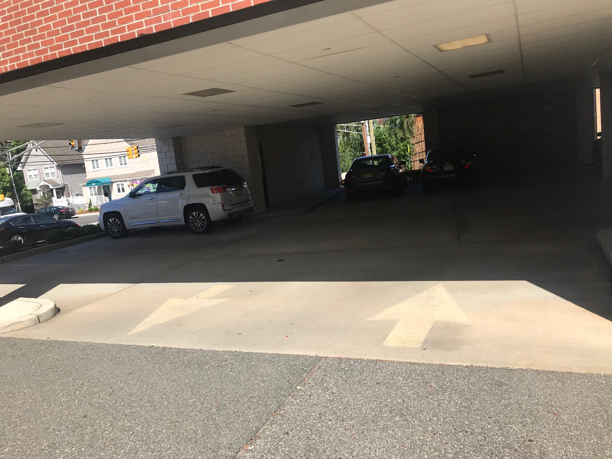 Here is a photo of the entrance to the parking garage where patients park at our physical therapy clinic in Lyndhurst, New Jersey.