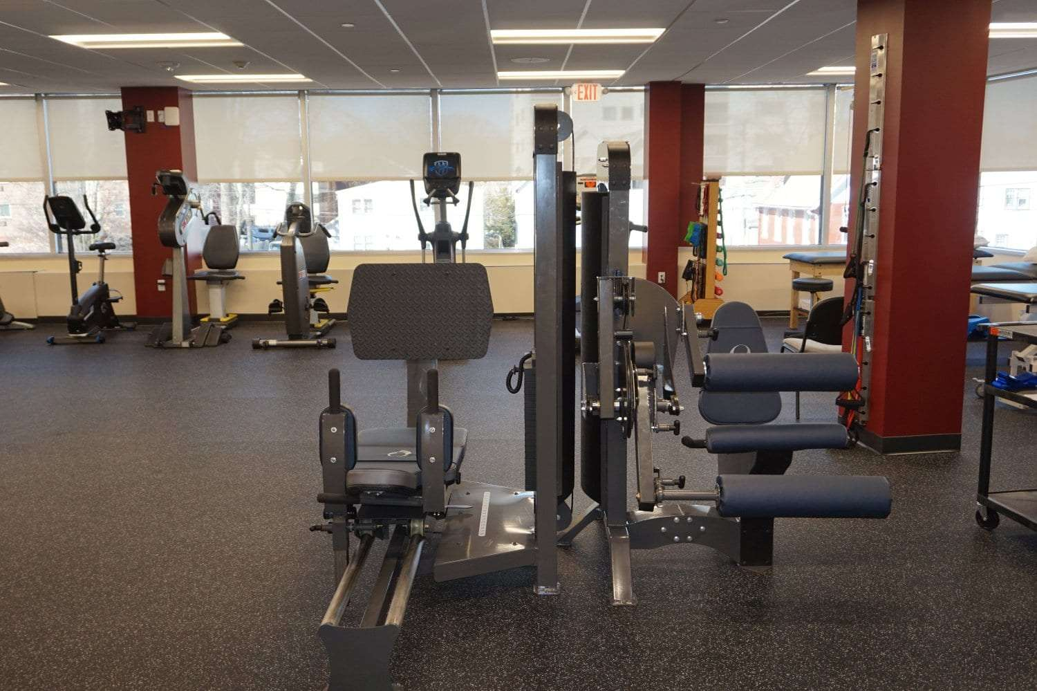 Here is another view of the equipment used at our physical therapy clinic in Stamford, Connecticut.