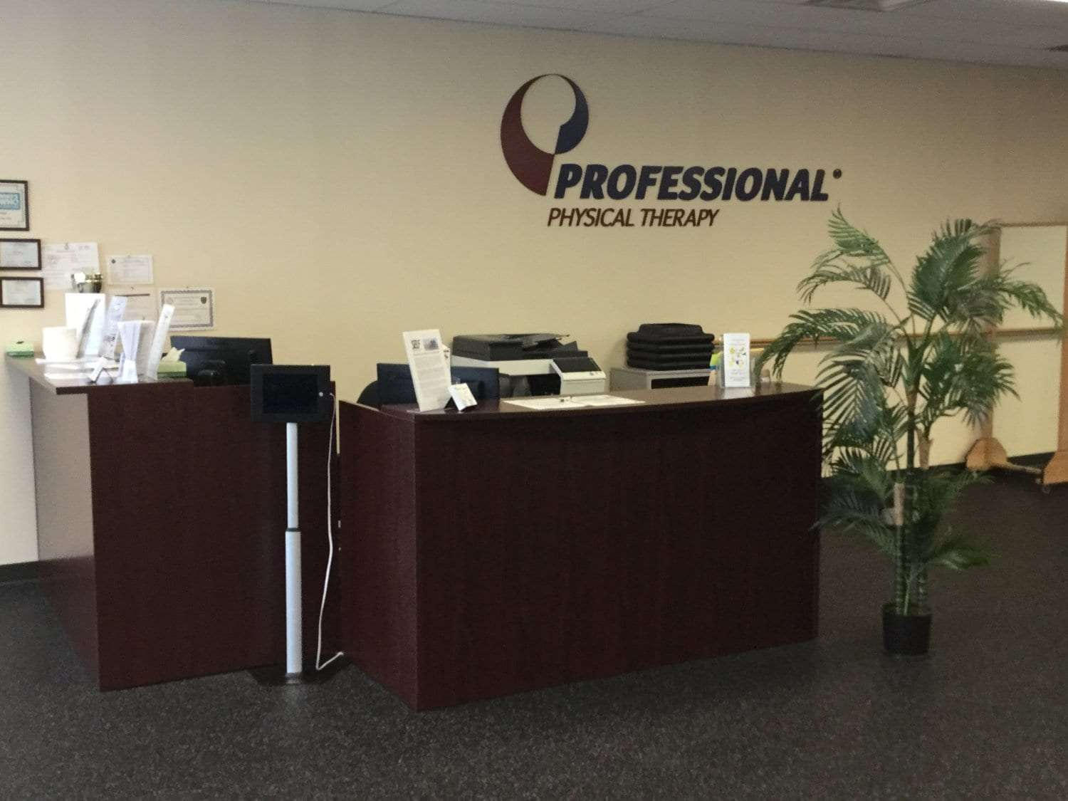 This is a phot of the front desk at our physical therapy clinic in Sicklerville, New Jersey.