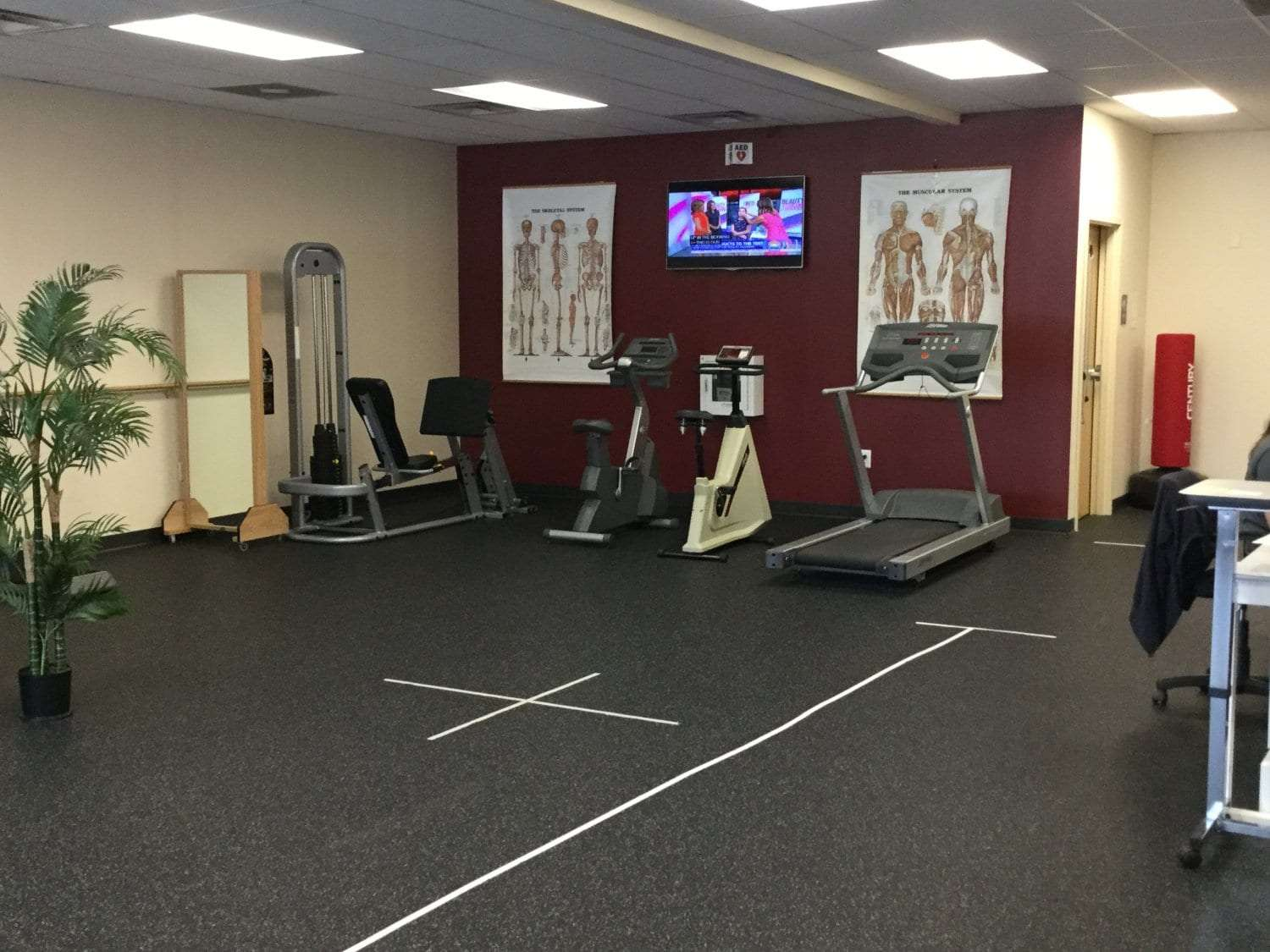 Here is an image of the interior of our physical therapy clinic in Sicklerville, New Jersey.