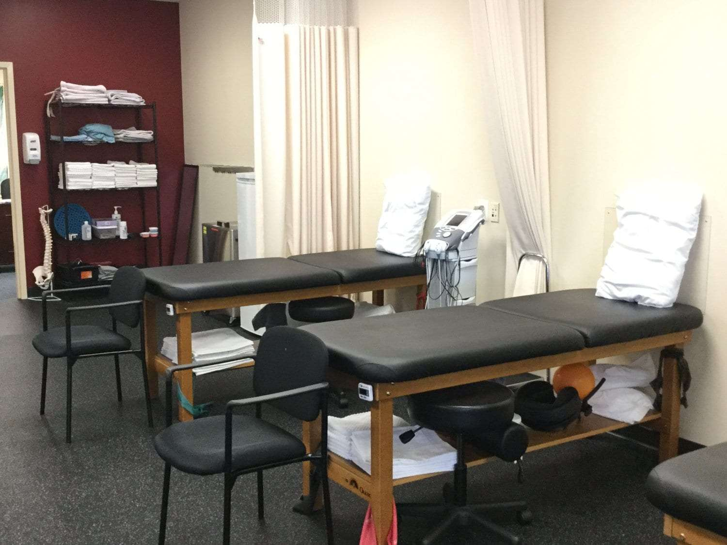 Here is an image of clean, well maintained beds at our physical therapy clinic in Sicklerville, New Jersey.