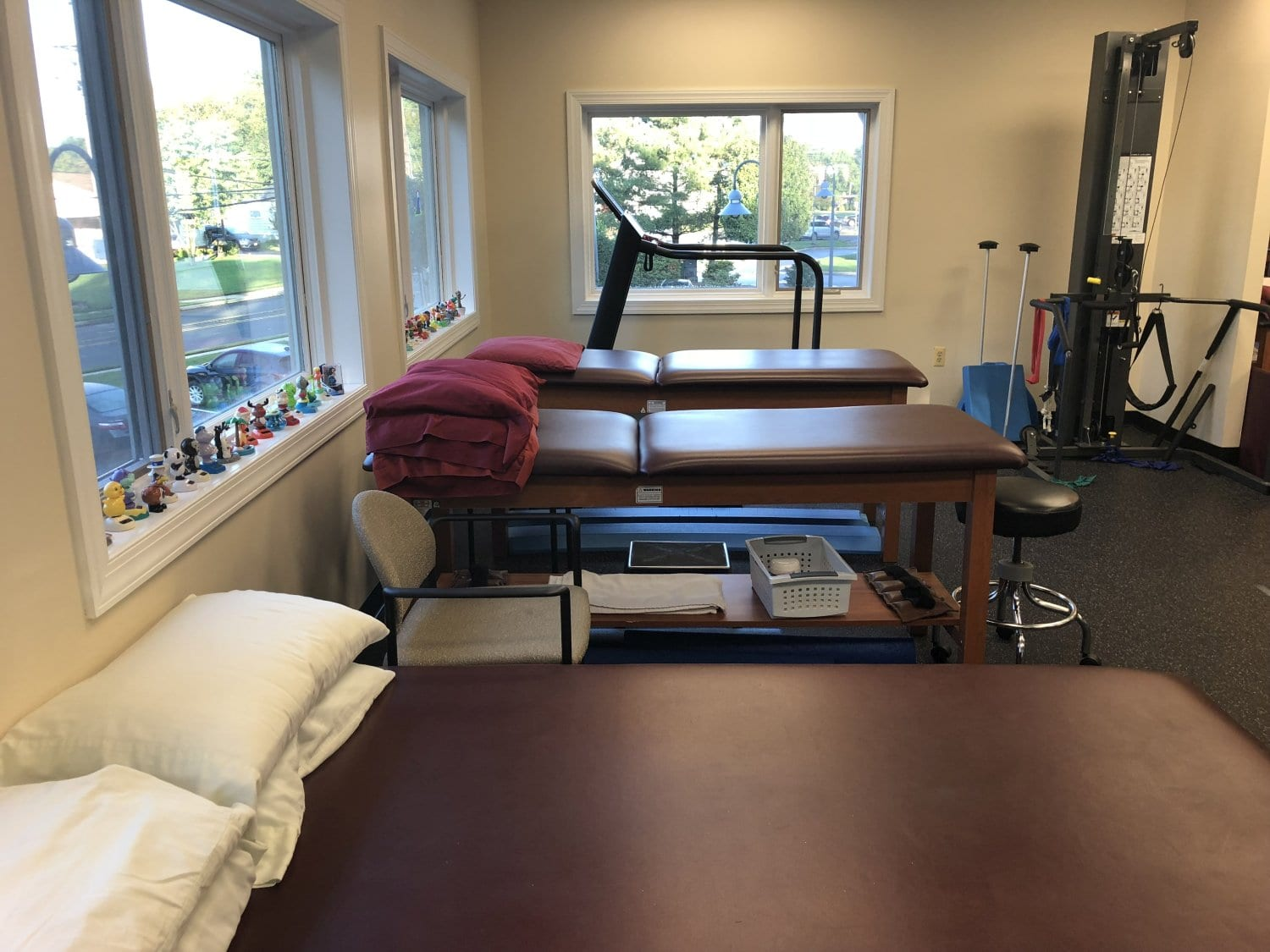 An image of three beds at our physial therapy clinic in Hazlet, New Jersey.