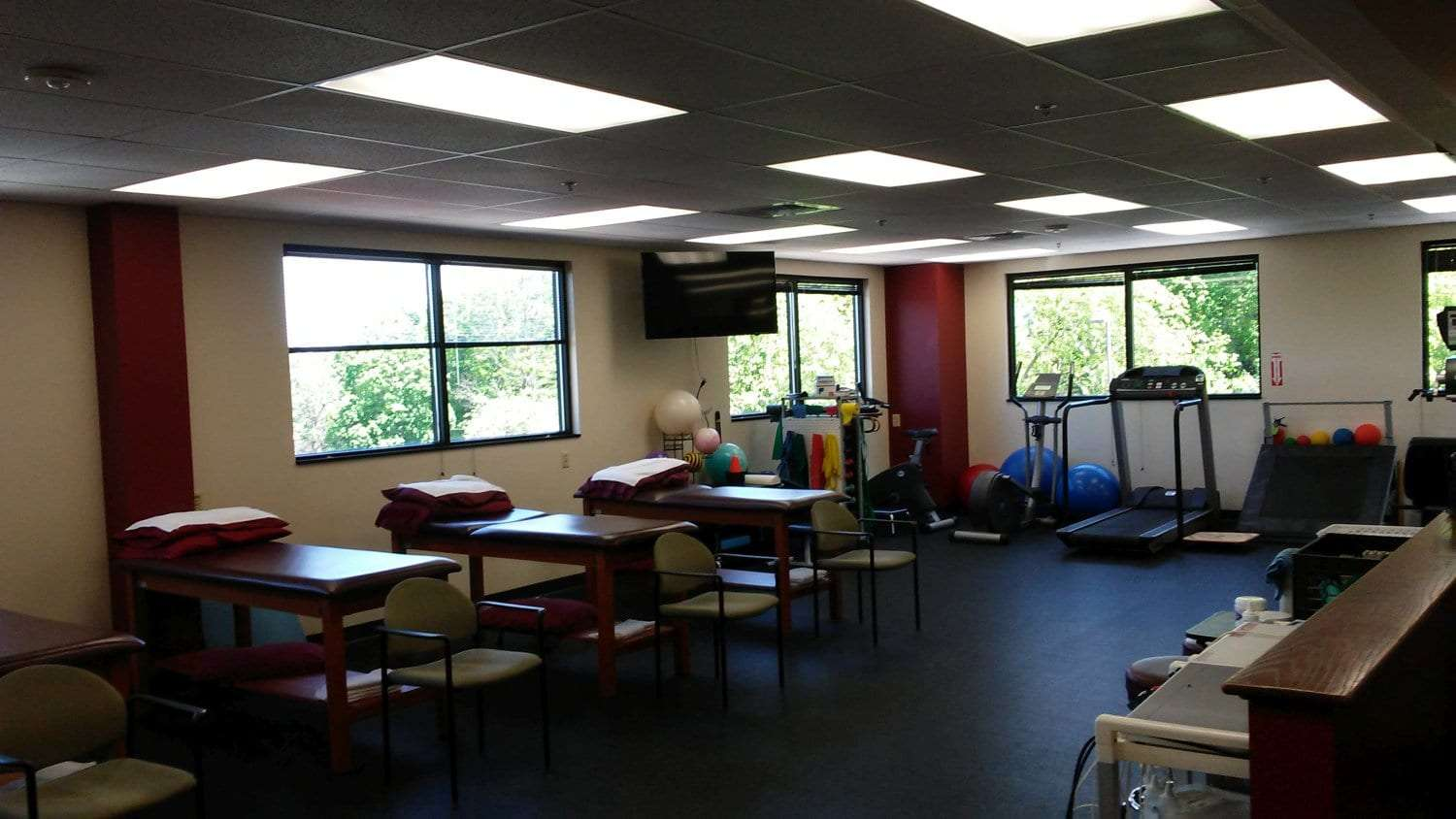 Here is a photo of various equipment used for physical therapy at our clinic in Newton, New Jersey.
