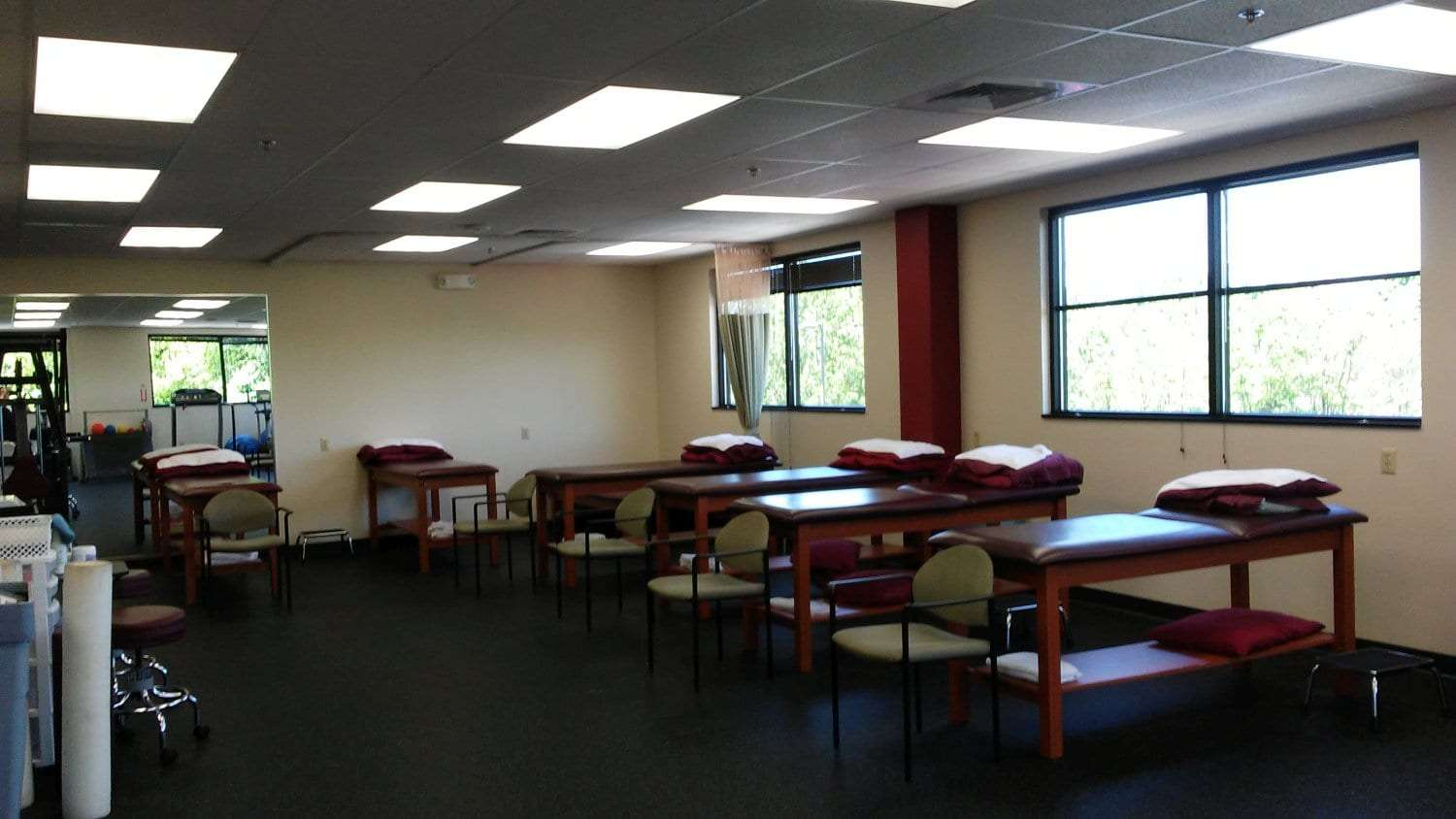 Here is a photo of the stretch beds at our physical therapy clinic in Newton, New Jersey.