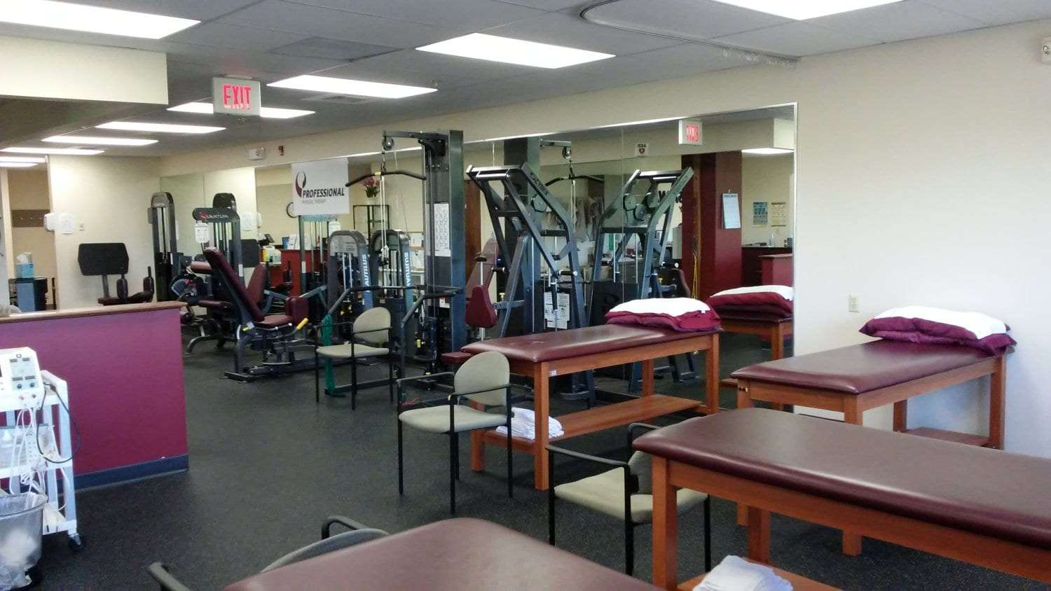 Here is an image of the interior of our physical therapy clinic in Newton, New Jersey.