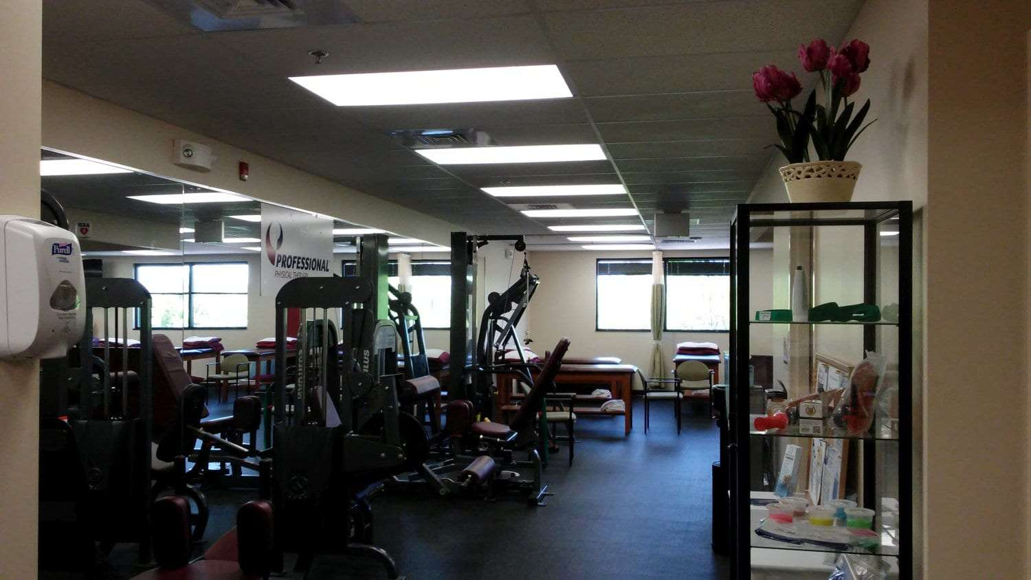 Here is an image of the equipment at our physical therapy clinic in Newton, New Jersey.