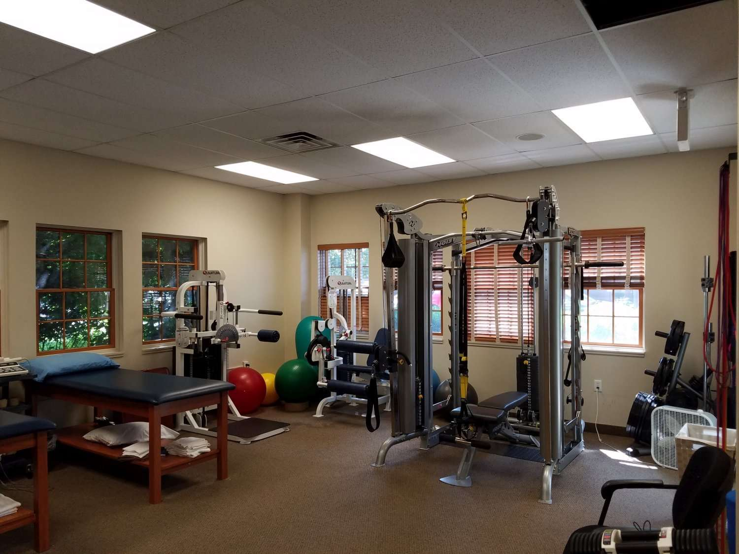 Here is a great shot showcasing some of the equipment used in our physical therapy clinic in West Orange New Jersey.