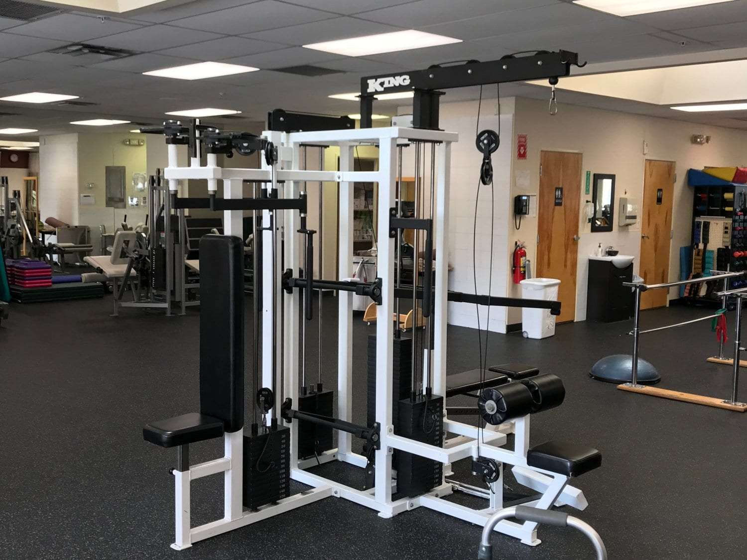 An image of exercise equipment at our physical therapy clinic in Cliffside Park, New Jersey.