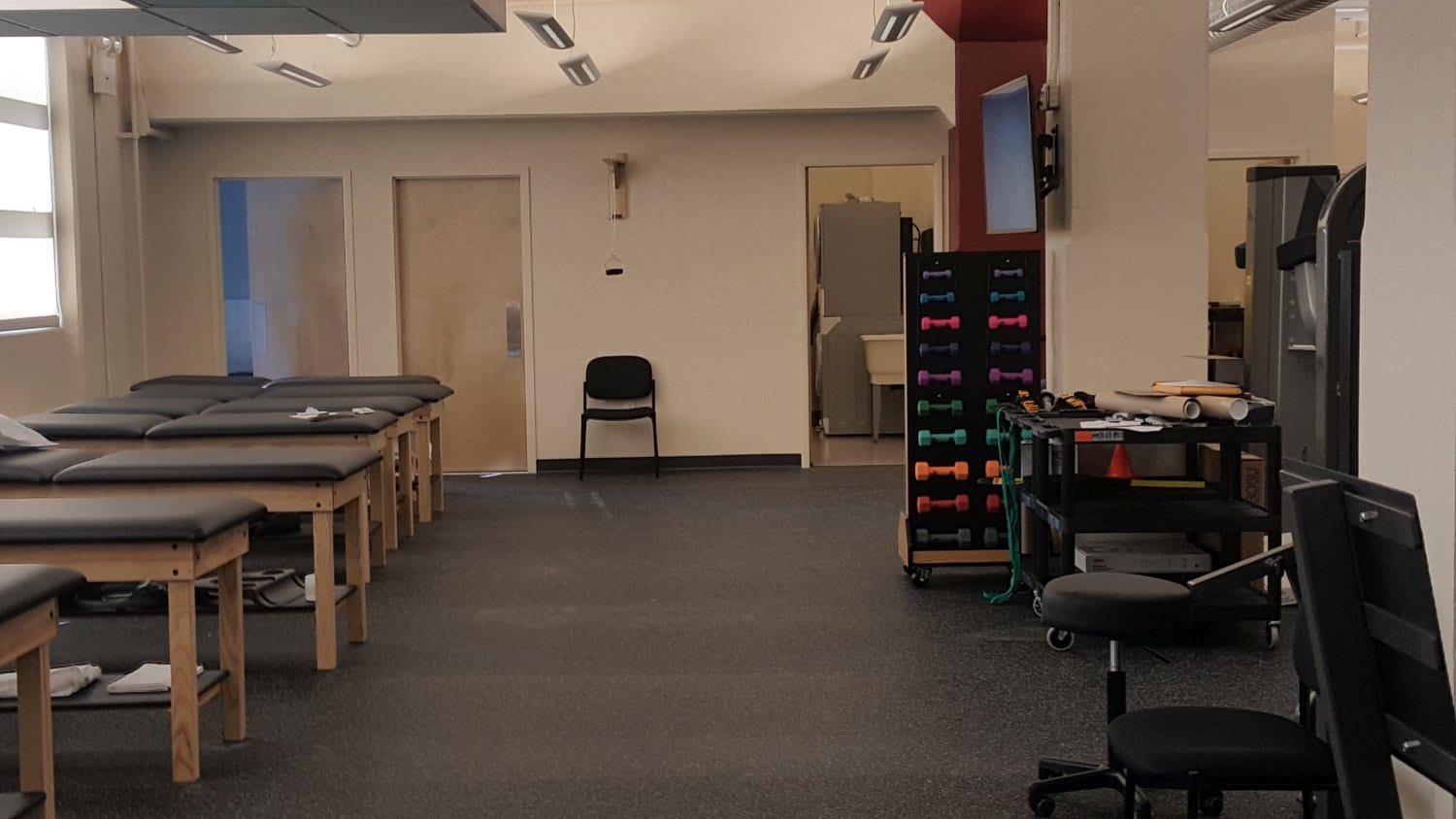 Here is an interior shot of our physical therapy clinic in Manhattan, New York City. The facility is located in midtown west on West 52nd street.