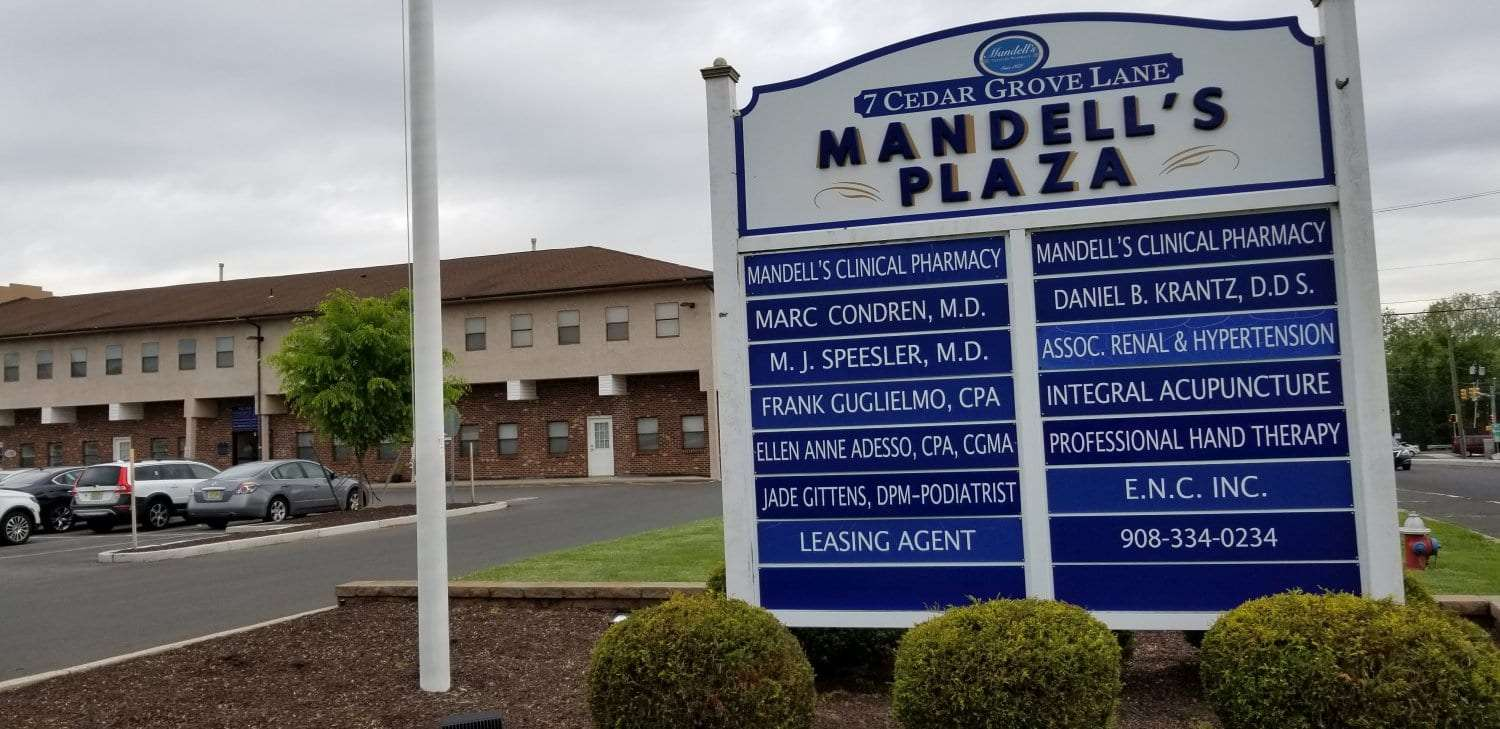 Here is an image of the sign for our hand and physical therapy clinic in Somerset, New Jersey.