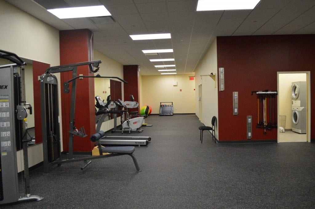 This is a photo of a part of our facility. The image shows exercise equipment used for physical therapy at our clinic in Glendale, New York.