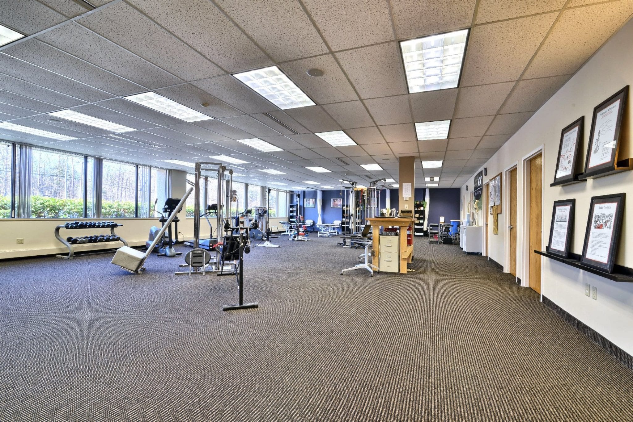 Here is an image of our clean interior at our physical therapy clinic in Farmington, Connecticut.