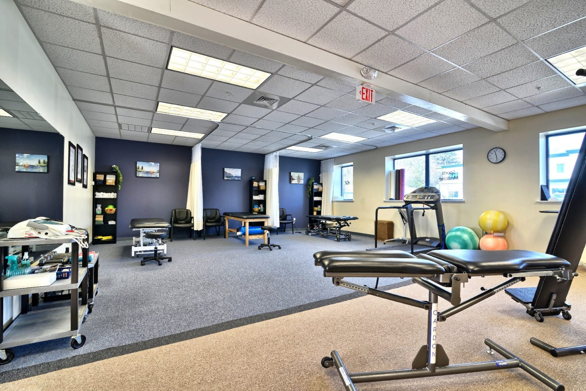 Here is an image of the interior of our physical therapy clinic in Amesbury, Massachusetts.