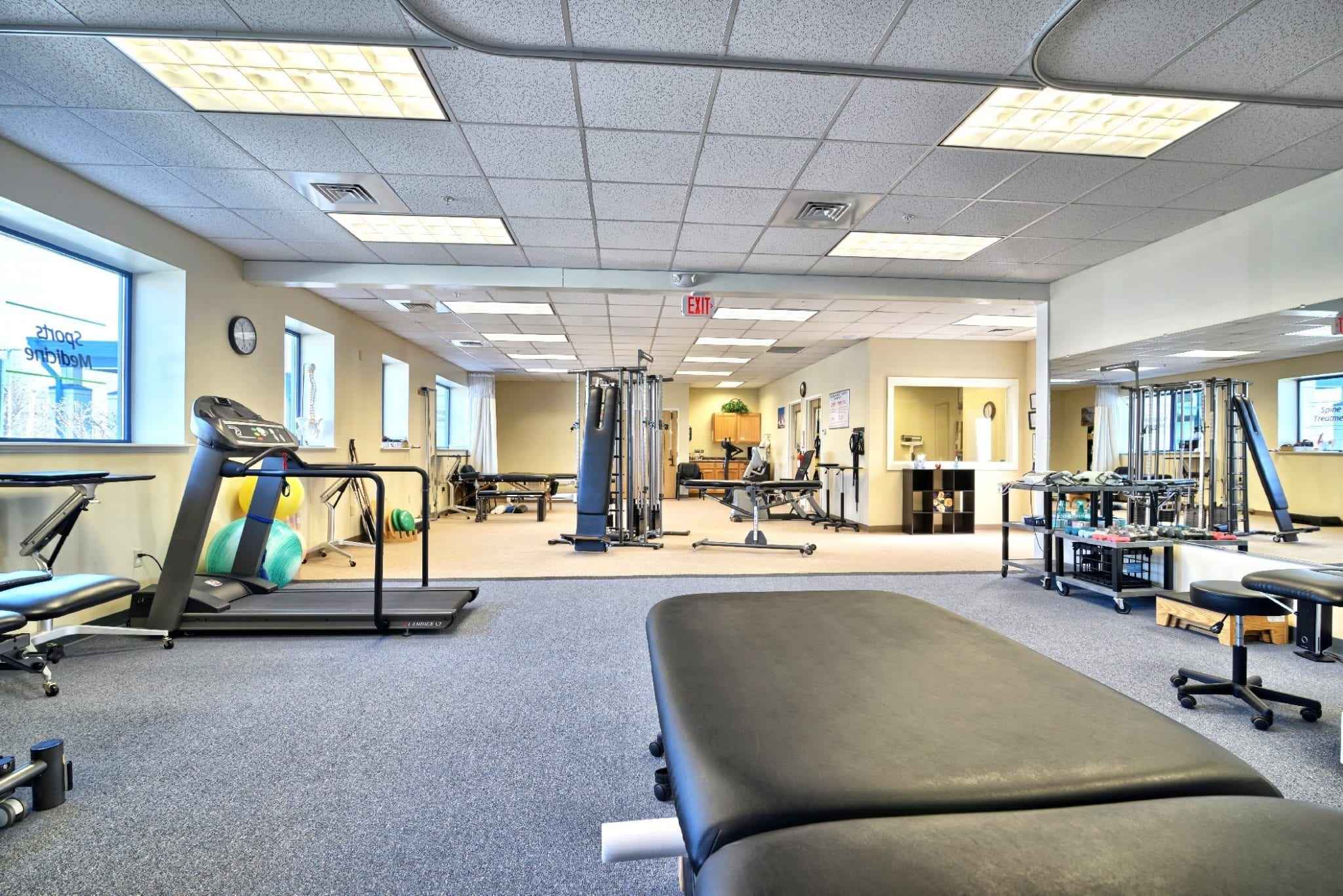 An image of the well maintained equipment at our physical therapy clinic in Amesbury, Massachusetts.