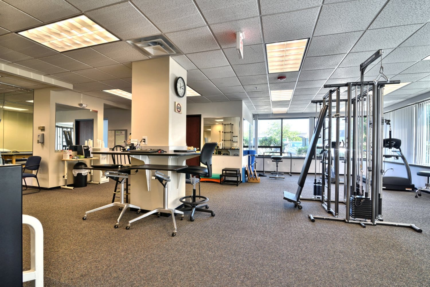 An image of the clean interior of our physical therapy clinic in Beverly, Massachusetts.