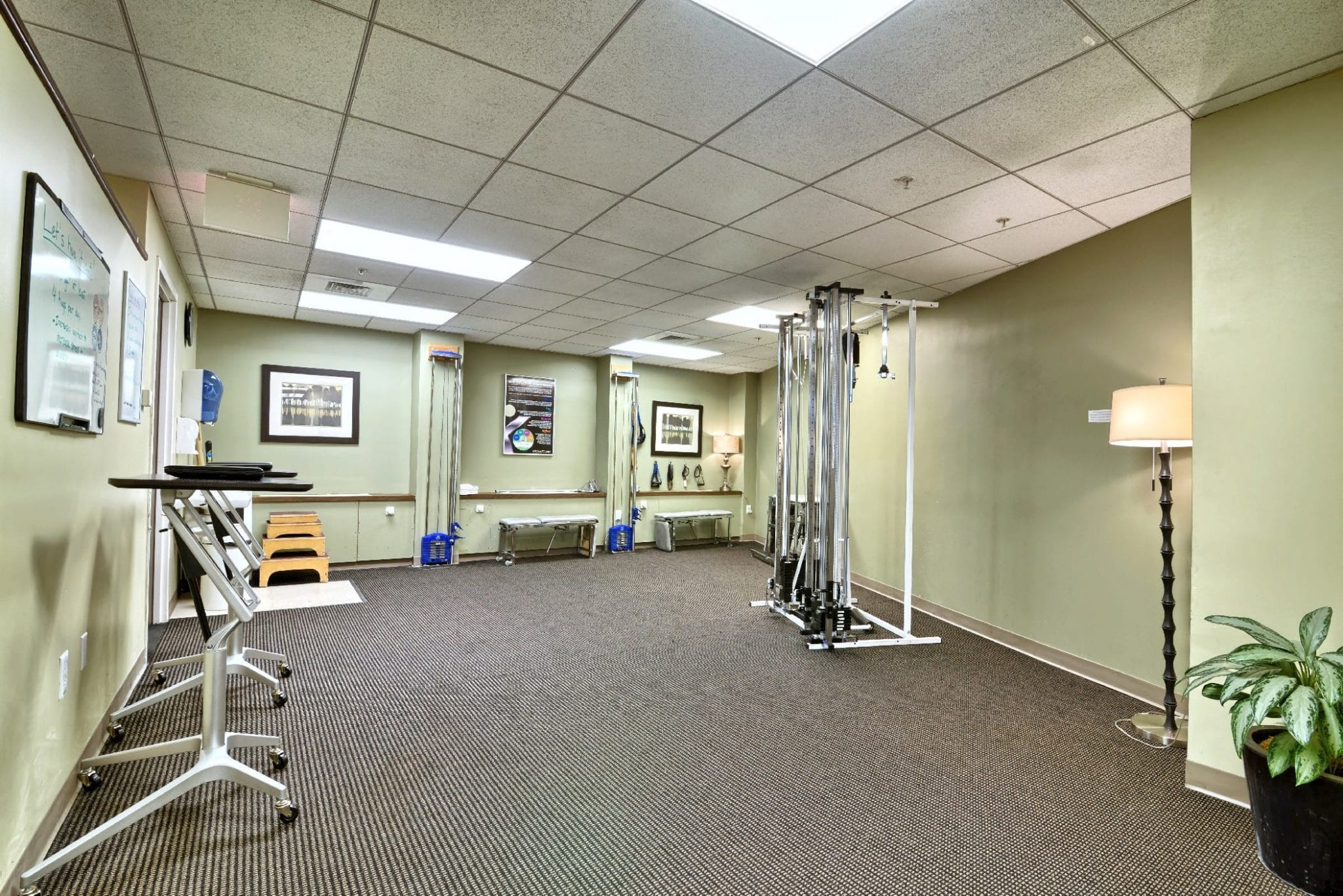 This image shows the interior of our physical therapy clinic in Boston, Massachusetts.