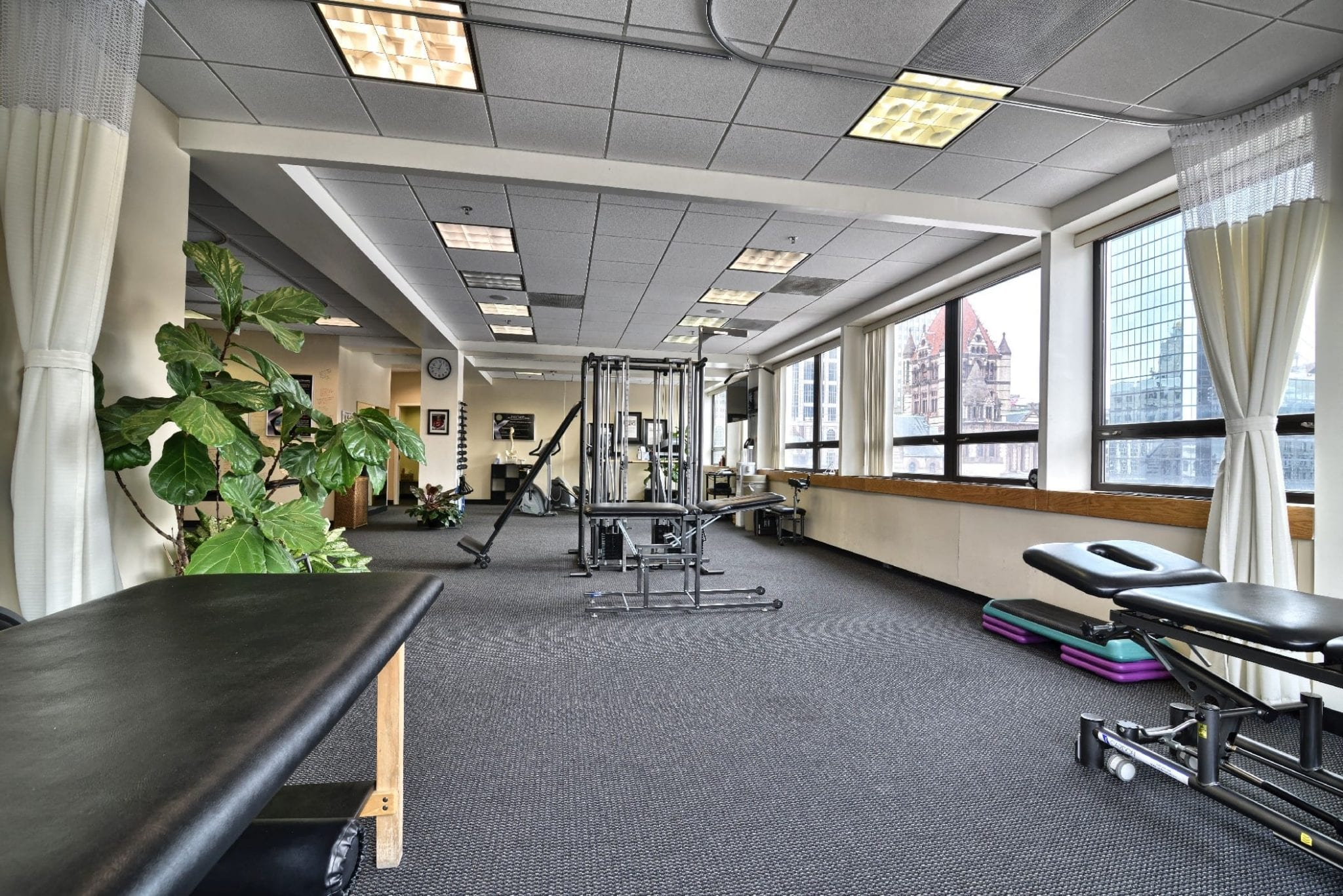 An image of the interior of our physical therapy clinic in Boston, Massachusetts.