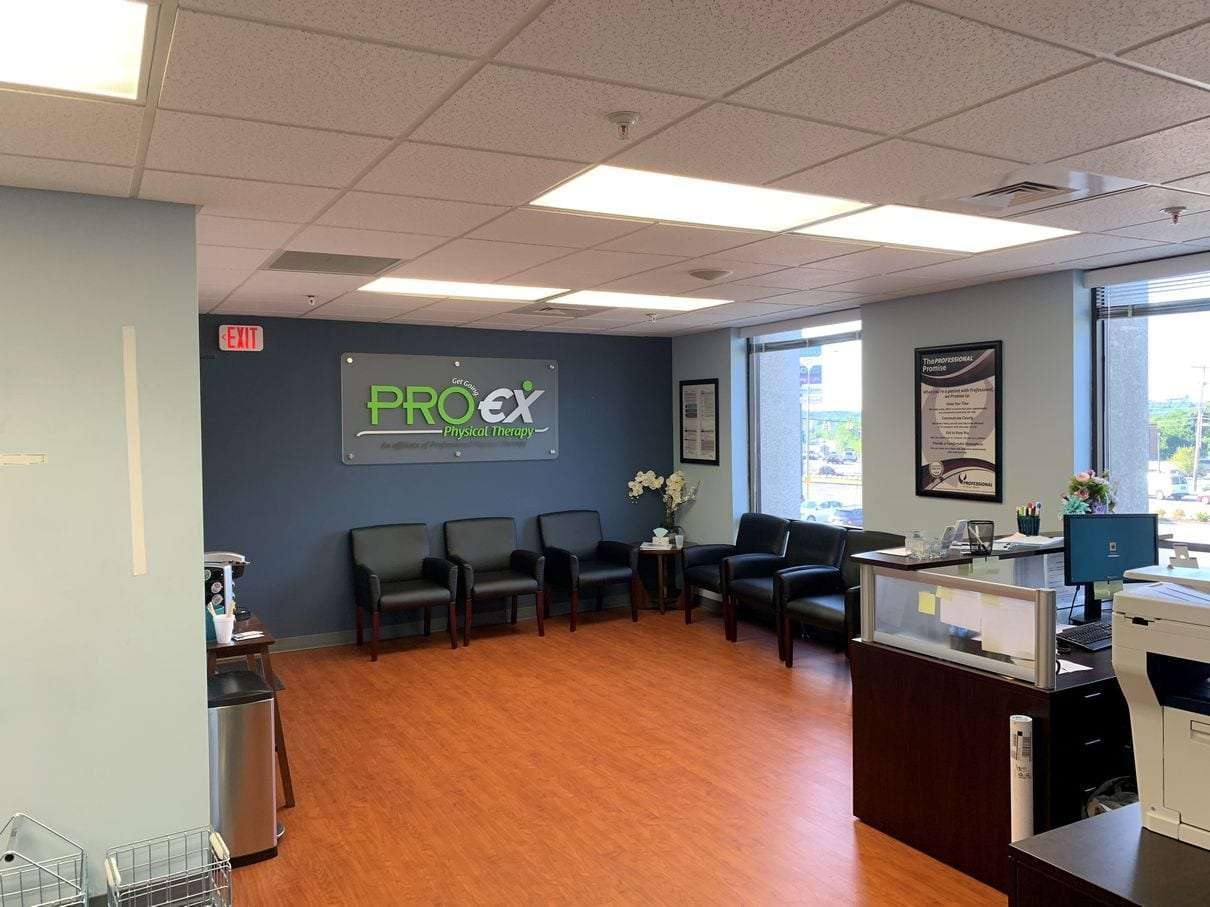 Entrance and reception of our Braintree, MA physical therapy clinic.