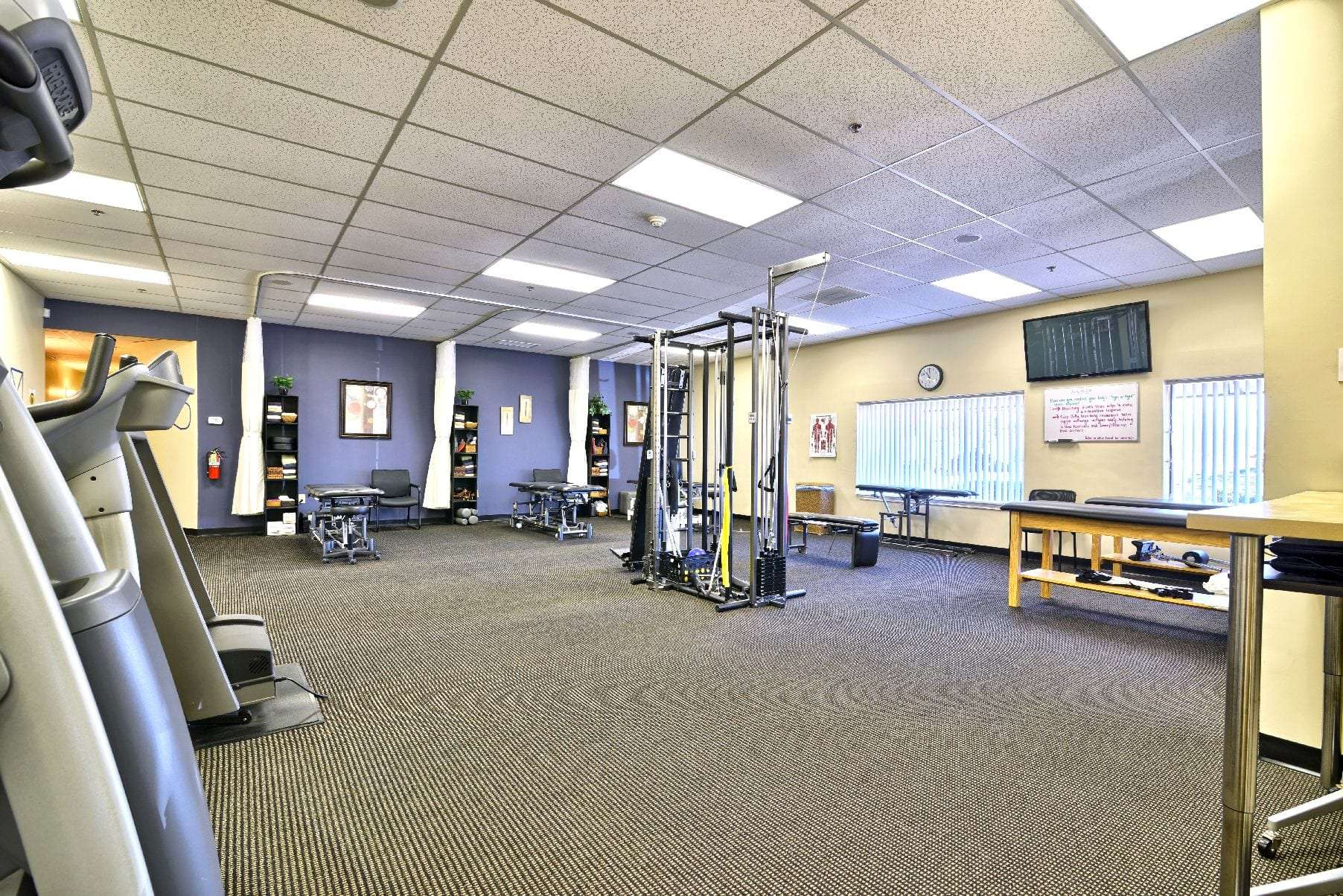 An image of the inside of our physical therapy clinic in Middleton, Massachusetts.