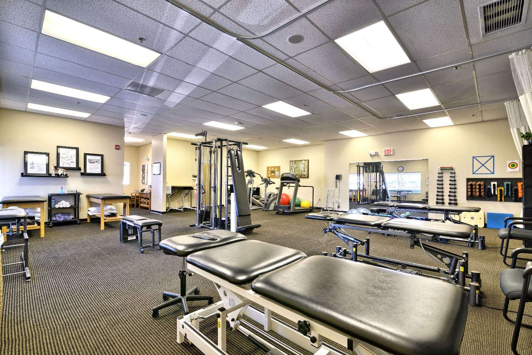 A photo of the interior of our physical therapy clinic in Middleton, Massachusetts.