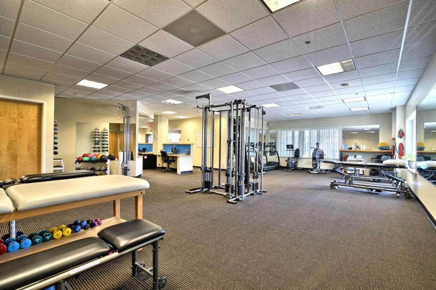 An image of the interior of our physical therapy clinic in Salem, Massachusetts.