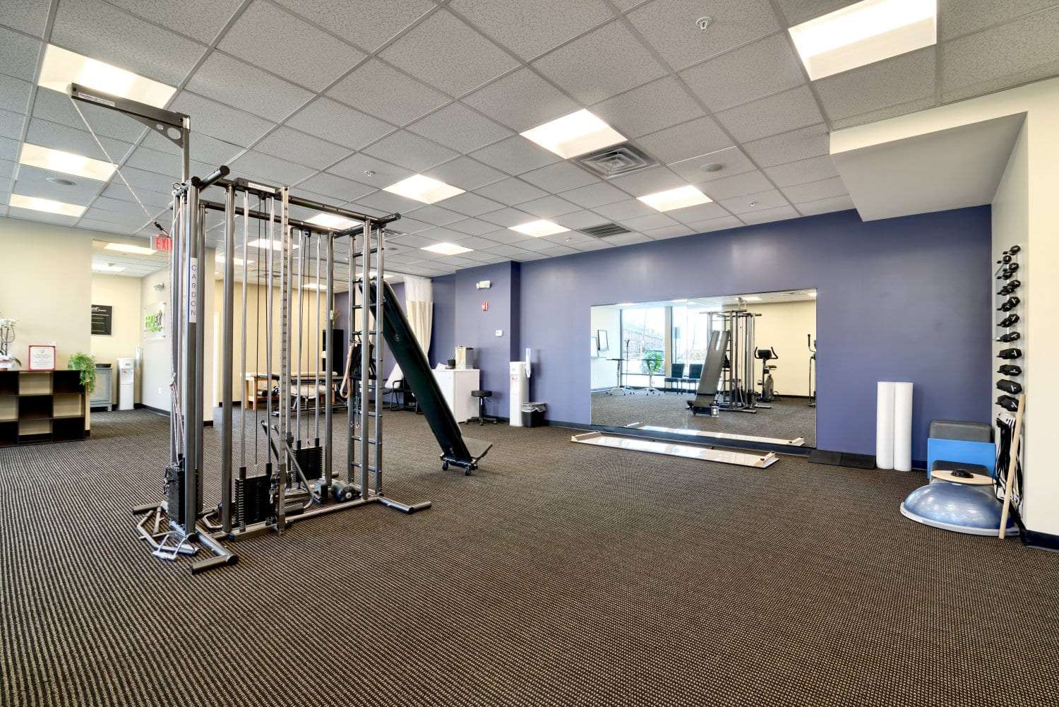 An image of the interior of our physical therapy clinic in Waltham, Massachusetts.