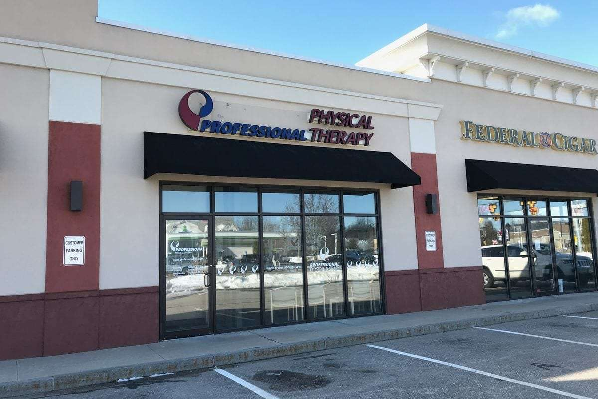 The exterior of our Epping, NH physical therapy clinic located in the Epicenter Plaza.