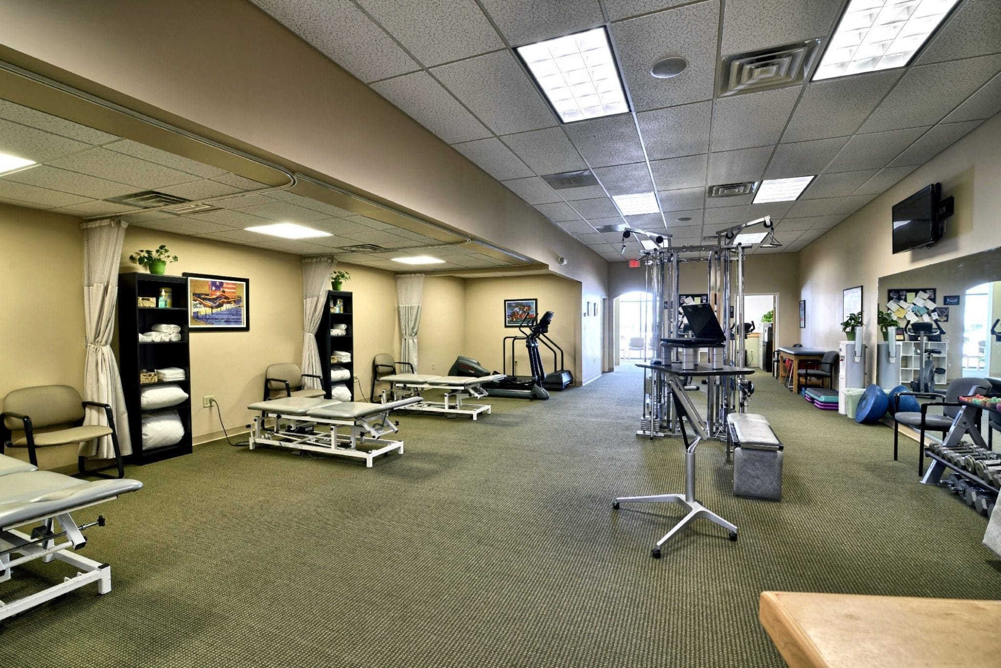 An image of the equipment at our physical therapy clinic in Epping, New Hampshire.