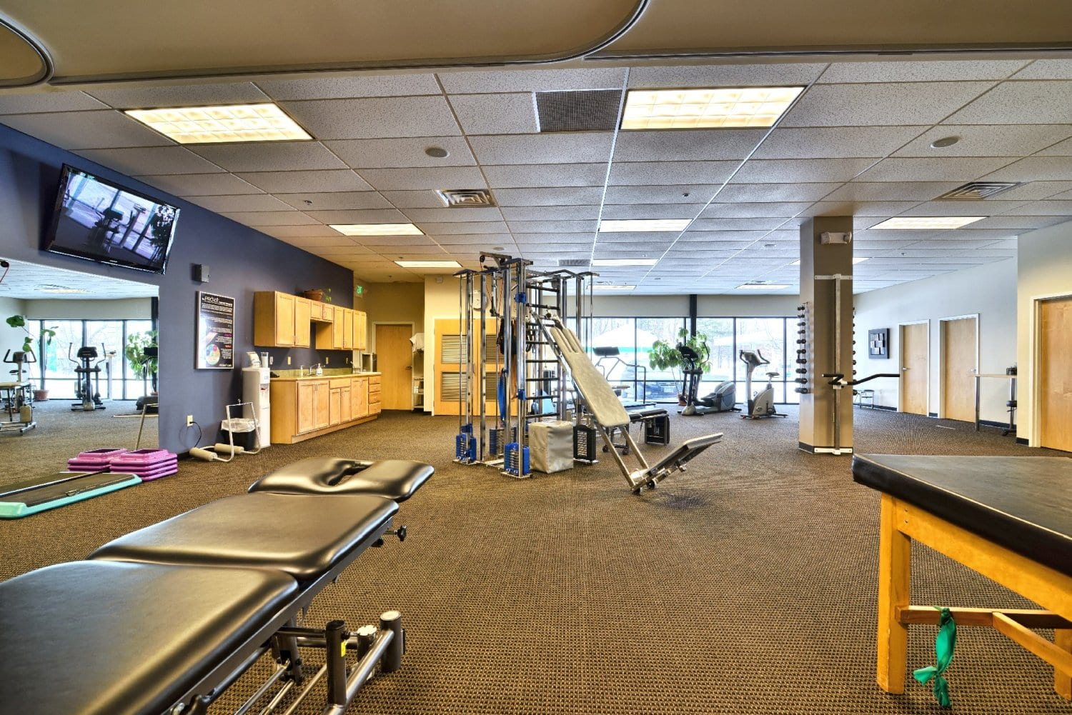 A photo of the interior of our physical therapy clinic in Somersworth, New Hampshire.