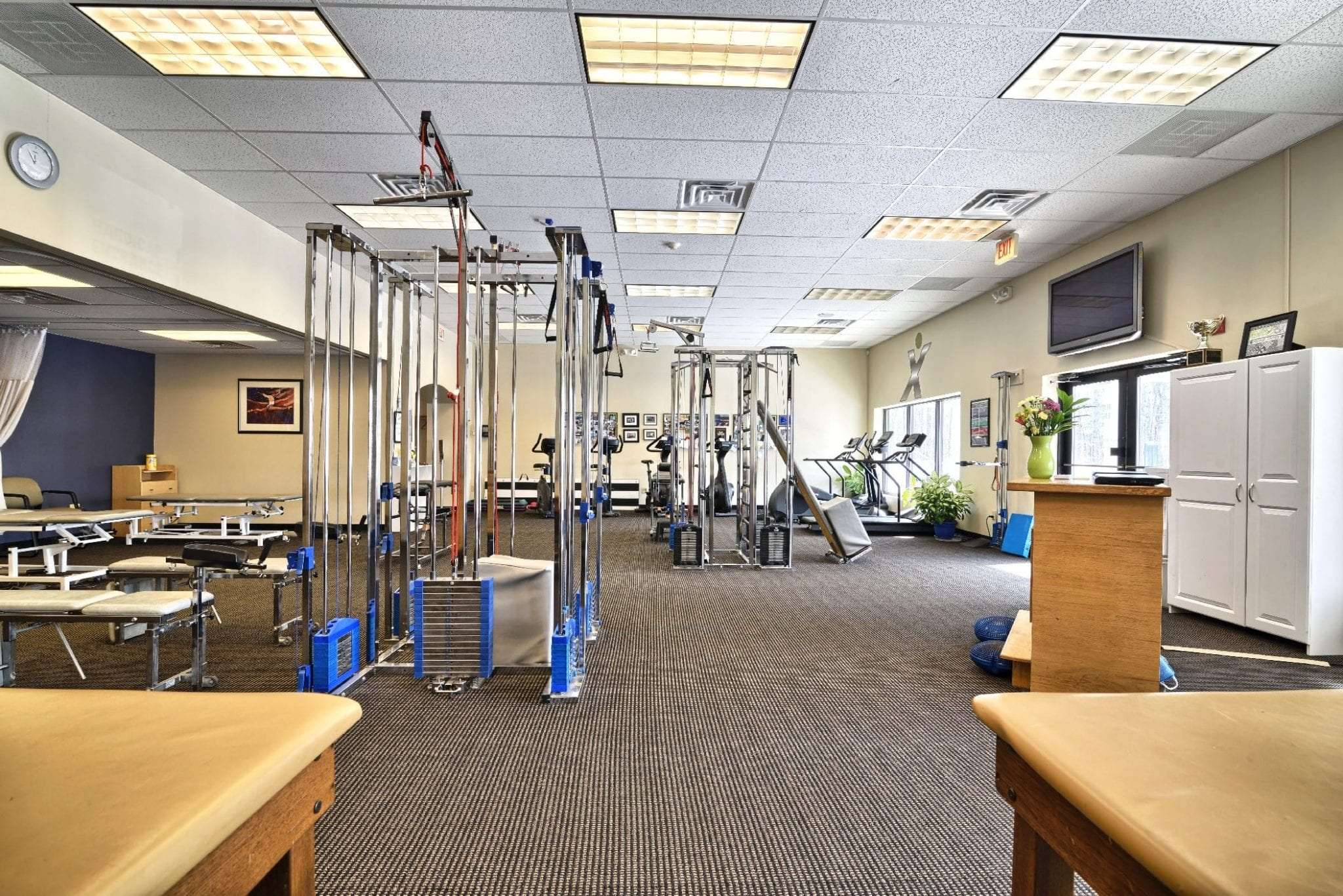 An interior shot of equipment used in physical therapy at our clinic in Stratham, New Hampshire.
