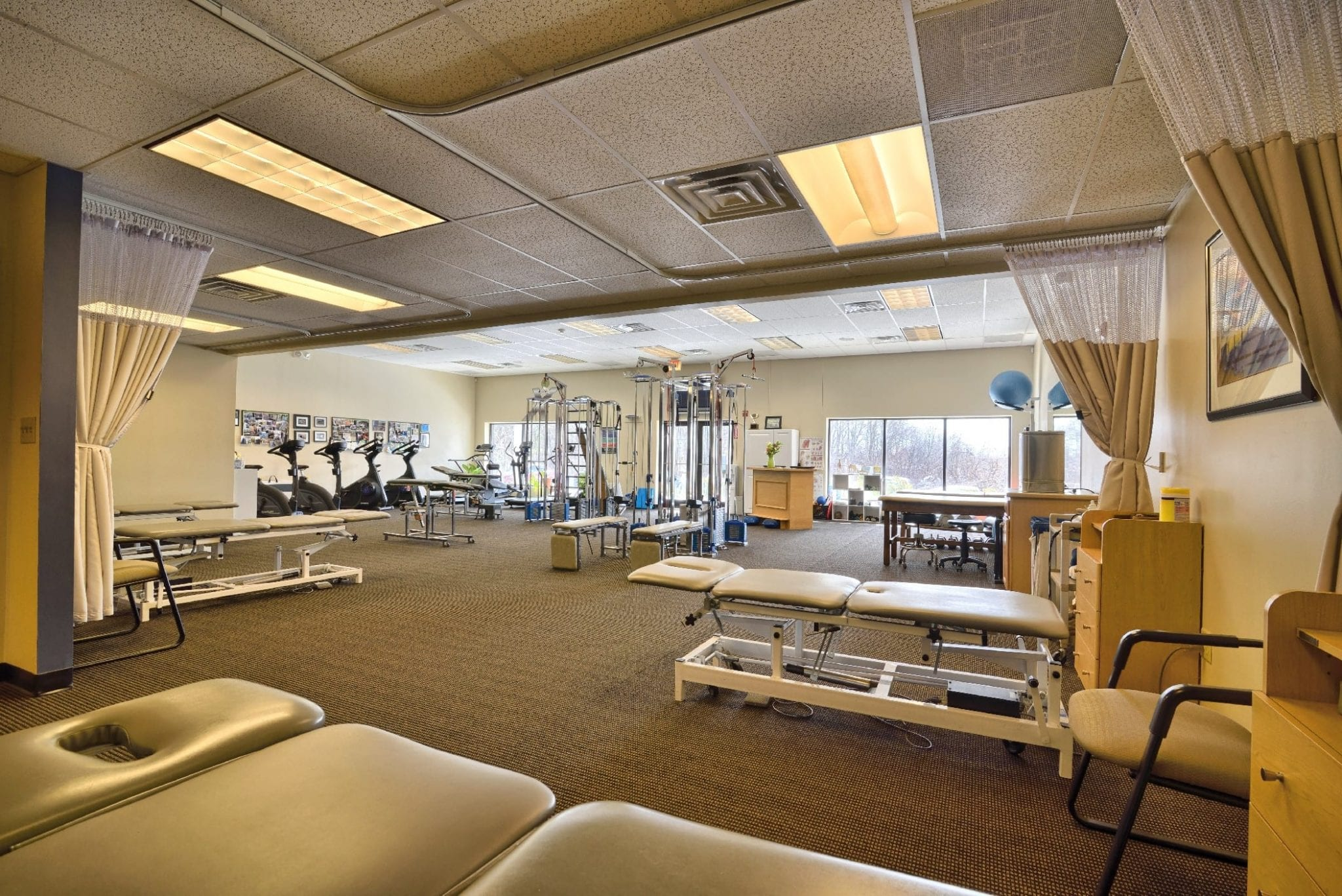 A photo of the interior of our physical therapy clinic in Stratham, New Hampshire.