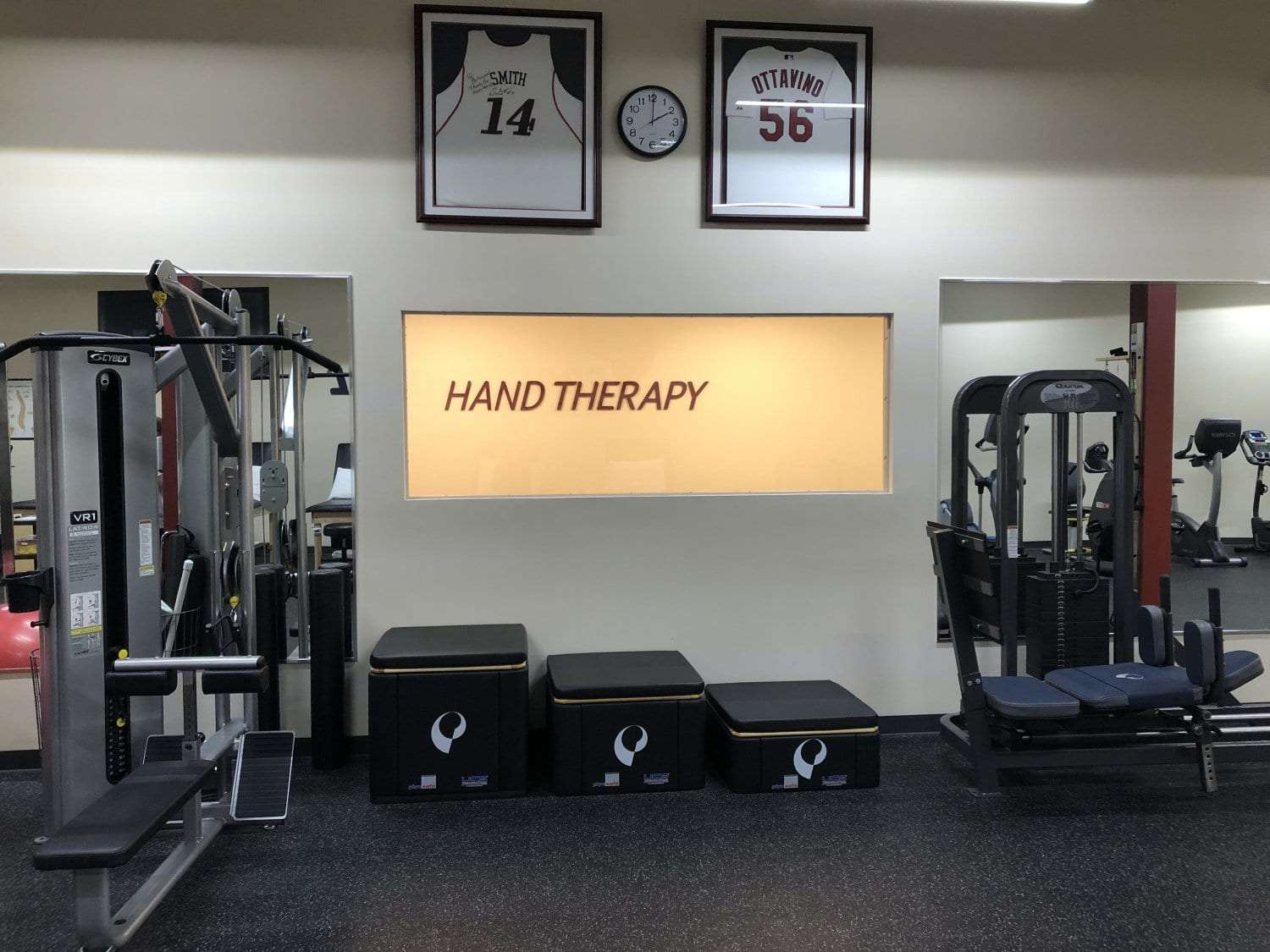 This is a photo of a hand therapy sign at our physical therapy clinic in Bay Shore, New York.