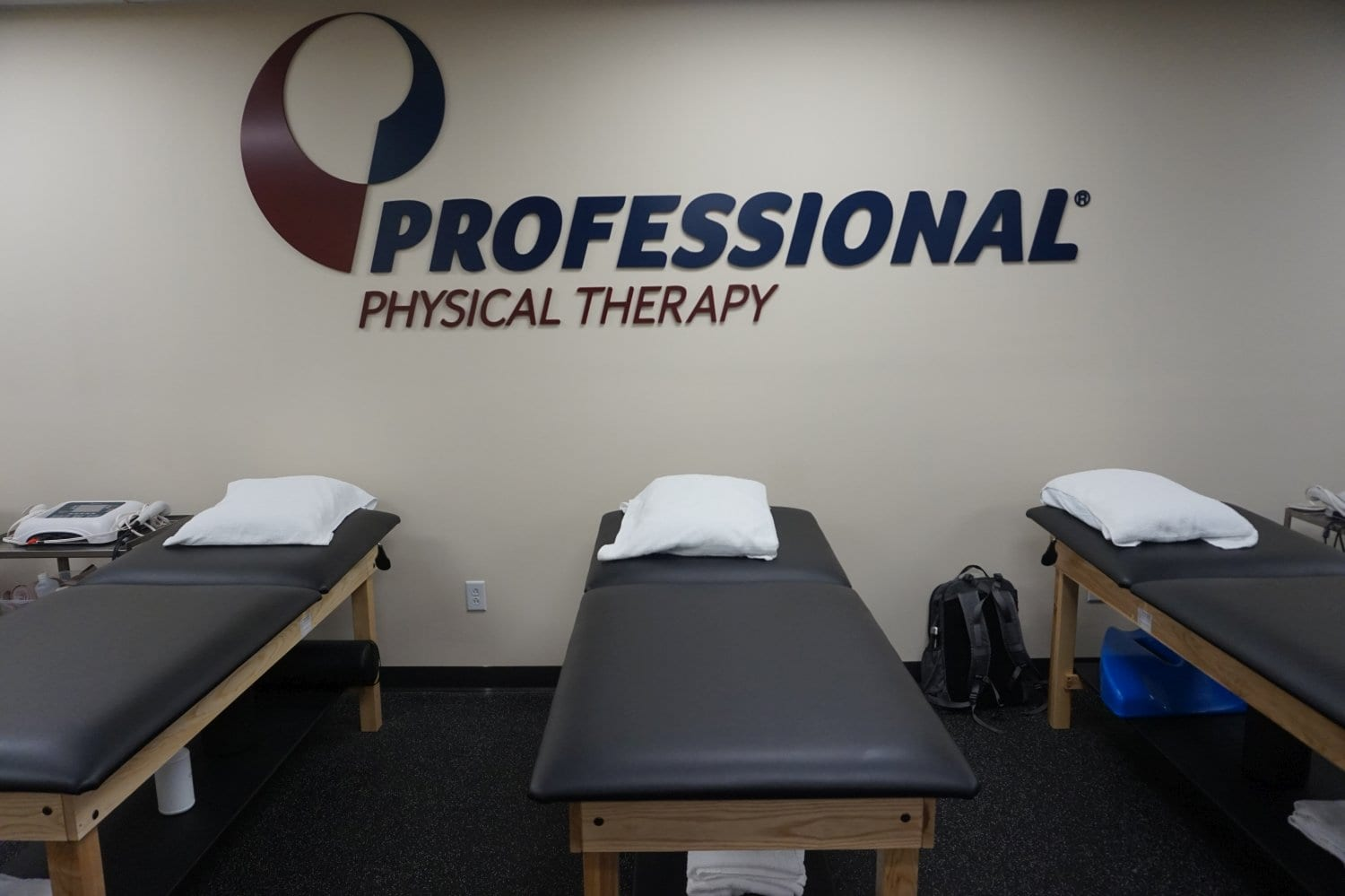 An image of three stretch beds used for physical therapy at our clinic in lower Manhattan, New York City, at East Village.
