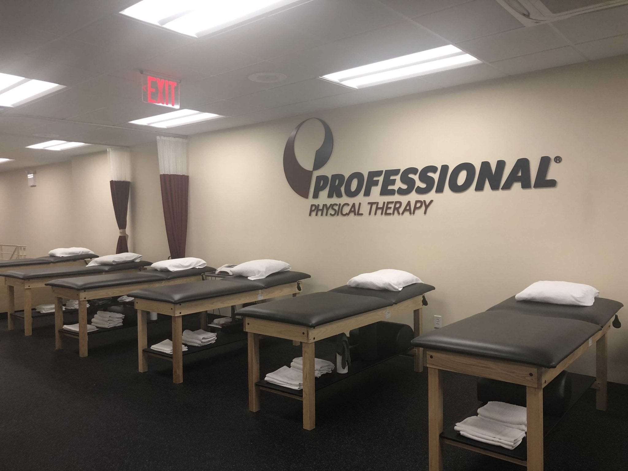 An image of six stretch beds used for physical therapy at our clinic in lower Manhattan, New York City, at East Village.