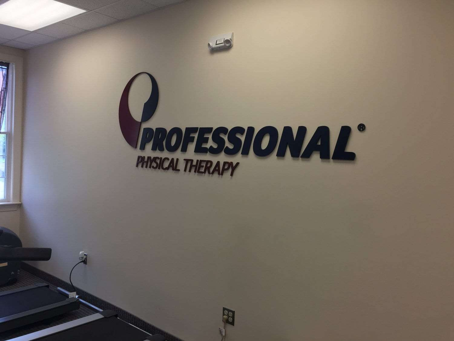 Here is an image of the sign for our clinic on the wall. The sign reads