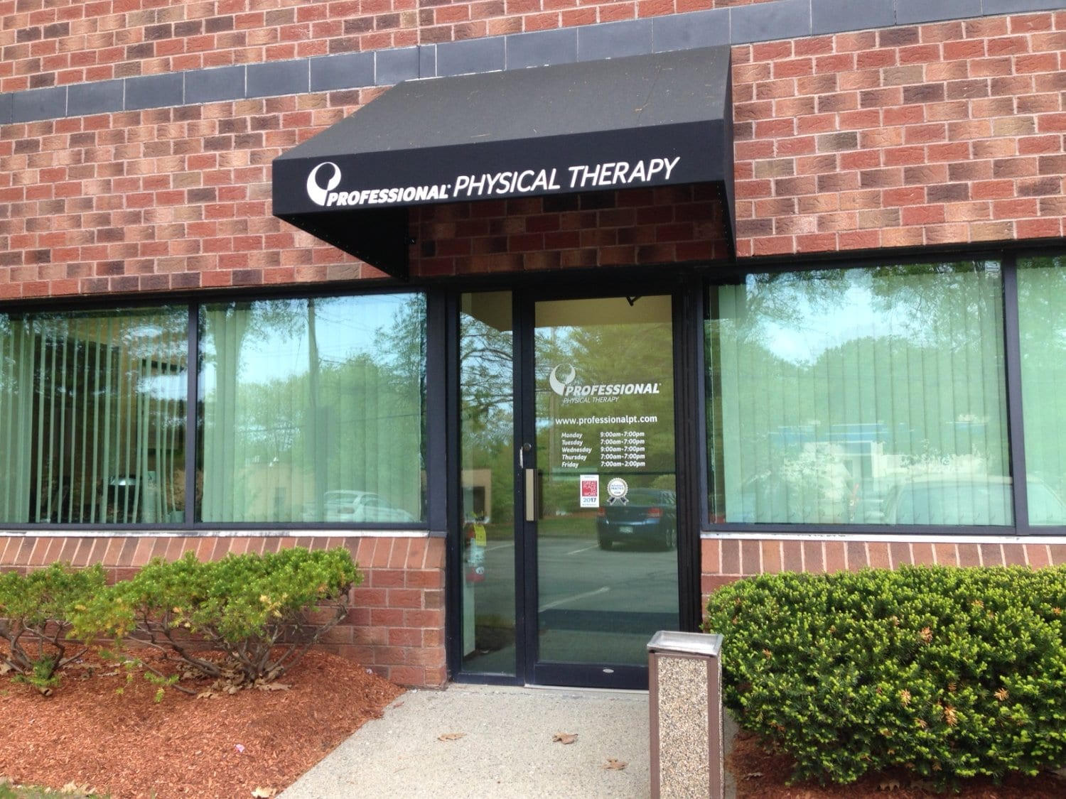 An image of the entrance at our physical therapy clinic in Billerica, Massachusetts.