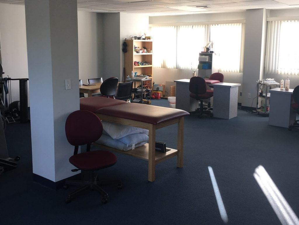 Here is an image of the interior of our physical therapy clinic in Bay Shore, New York.