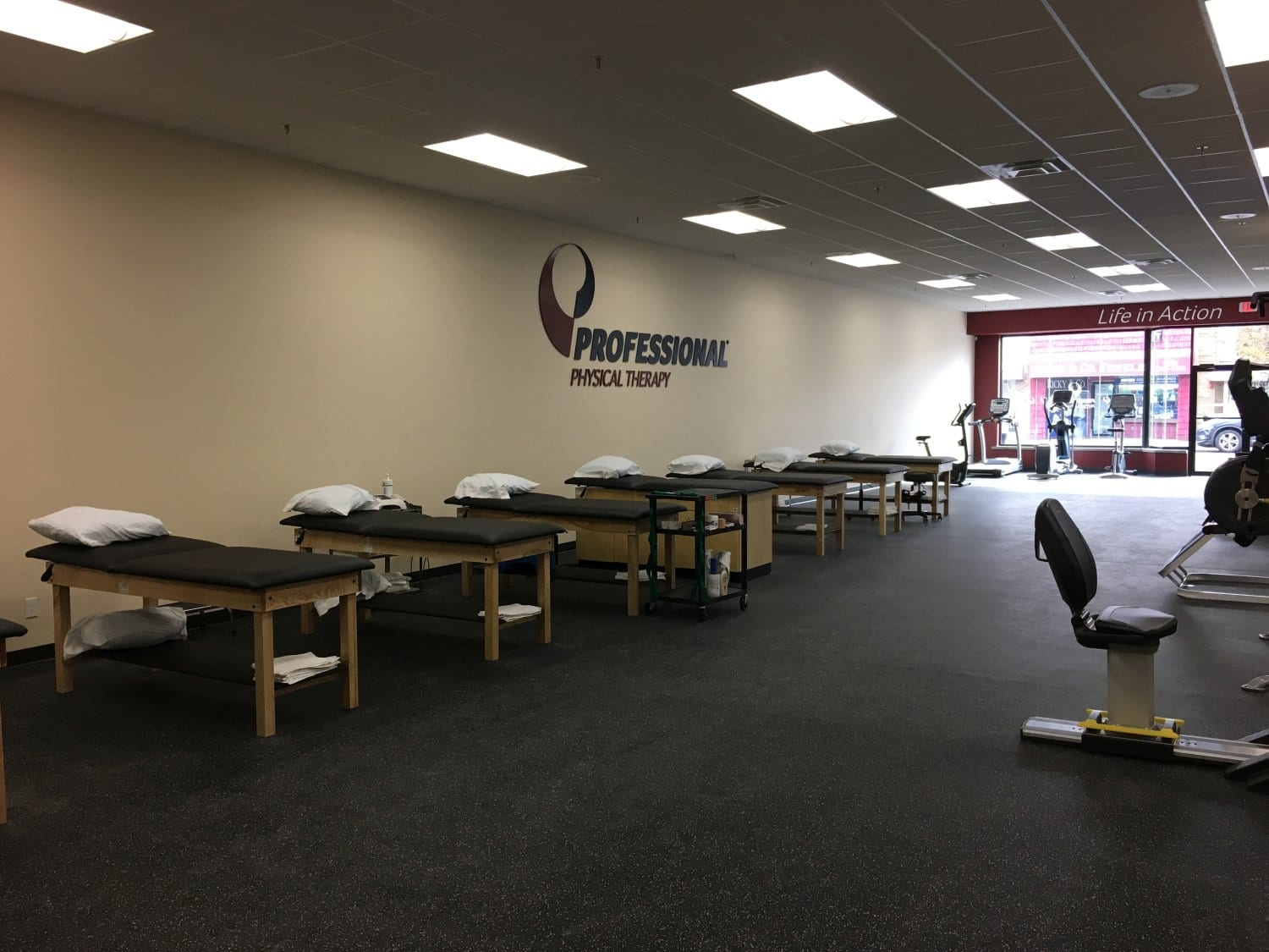 Here is a photo of the beds used for physical therapy at our cliic in Sayville, New York.