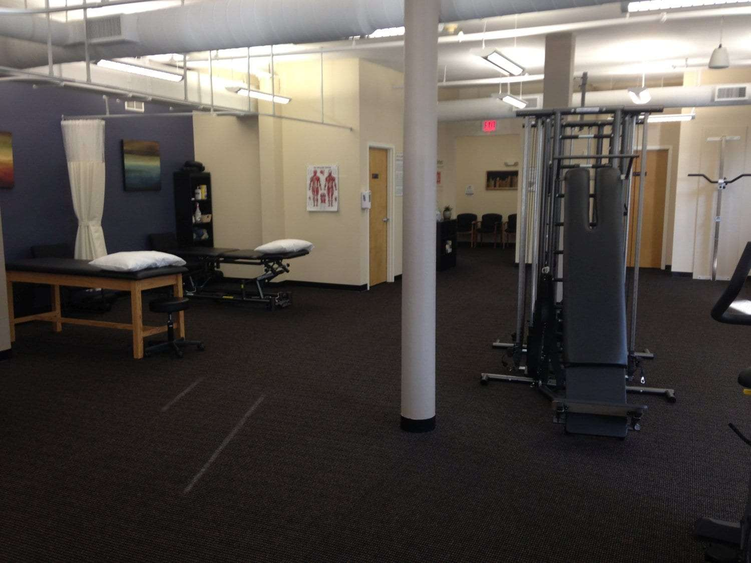 This is an image of the interior of our physical therapy clinic in Watertown, Massachusetts.