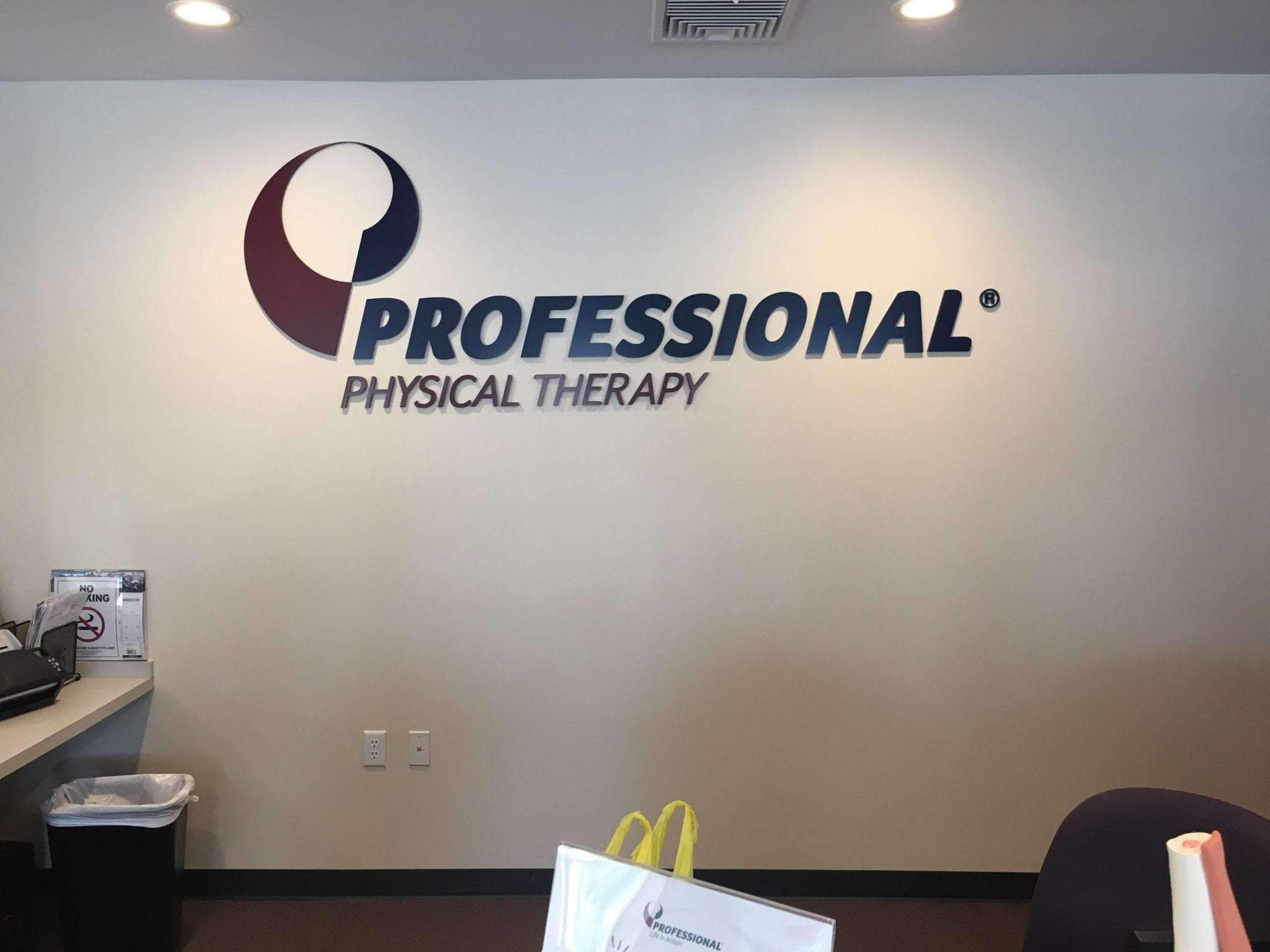 Here is an image of the sign for our physical therapy clinic on our wall. This is at our facility in Montville, New Jersey.